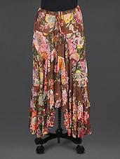 Multicolour Gathered  Cotton Skirt - Cotton Curio