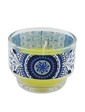Blue Turkish Glass Wax Candle Holder - By