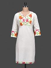Multicolour Plain Cotton Kurta - NAYO