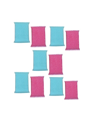 Home creations Set of 10 pcs multi colour Scrubber