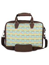 Brown Boy Girl Faux Leather Laptop Bag - THE BACKBENCHER