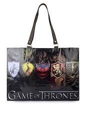 Black Game Of Thrones Flex Tote Bag - THE BACKBENCHER