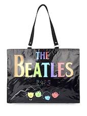 Black Beatles Flex Tote Bag - THE BACKBENCHER