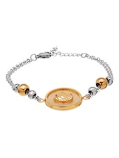 Elegant Rose Theme Gold Toned Bracelet - Voylla