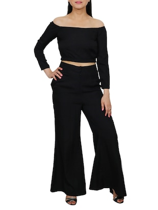 Set of crop top with palazzo