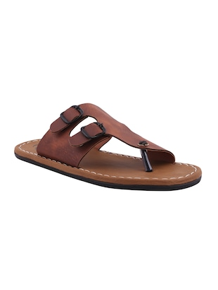 tan color, leatherette sandals
