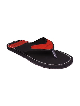 black red color, leatherette slippers