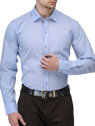 blue polyester formal shirt