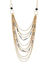 Gold Embellished Metallic Necklace - By