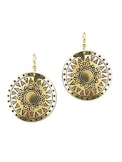 Gold Metallic Earrings - C'DUZE
