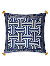 Blue Cotton Hand Block Printed Cushion Covers - By