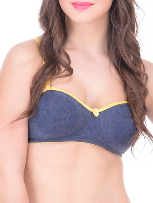 blue cotton t-shirt bra