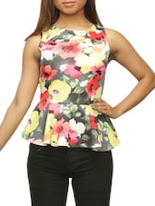 Floral Print Peplum Top - The Style Aisle