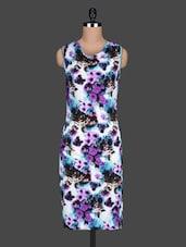 Floral Printed Sleeves Bodycon Dress - Bella Rosa