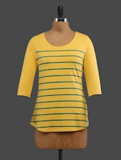 Yellow Printed Cotton Top - CULT FICTION