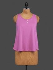Pink Plain Cotton Top - CULT FICTION