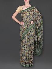 Green Bandhani Print Saree - Banjaari