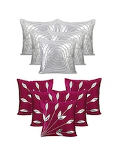 Set Of 10 Ultima Purple Silve  Cushion Cover - By