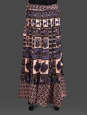 Bagru Printed Cotton Wrap Around Skirt - Soundarya