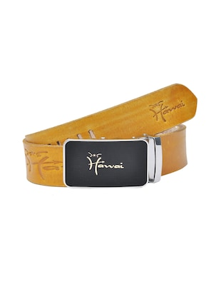 yellow color, leather belt