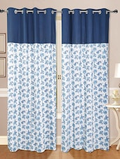 Set Of 2 Cotton Floral Printed Curtain - By