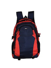 red and blue polyester backpack -  online shopping for Backpacks