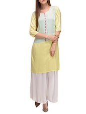 light blue viscose straight kurta -  online shopping for kurtas