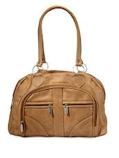 Solid Multipocket Leatherette Handbag - Bags Craze