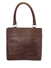 Solid Double Tier Handbag - Bags Craze - 1163651