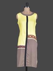 Sleeveless Colour Block Rayon Kurta - KRISHTI