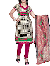 Multicolor Crepe Unstitched Dress Material - By