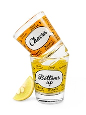 Cheers And Bottoms Up Shot Glass(Set Of 2) - By