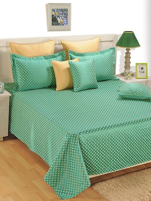 Set of 5 Premium Poly cotton Bed cover set