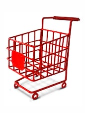Red Iron Visiting Card Trolley - By