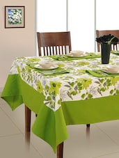 Set Of 7 Printed Cotton 6 Seater Table Cover Set - By
