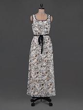 Floral Print Sleeveless Georgette Maxi Dress - Eavan