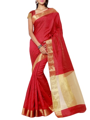 red art silk woven saree