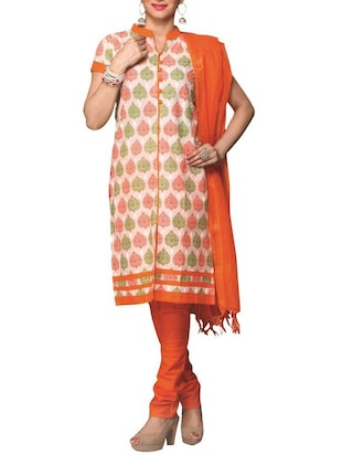 multicolor cotton unstitched suit