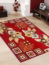 red woolen area rug -  online shopping for Carpets
