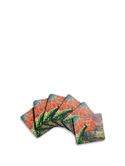 Peacock Saga Coasters (Set Of 6) - India Circus