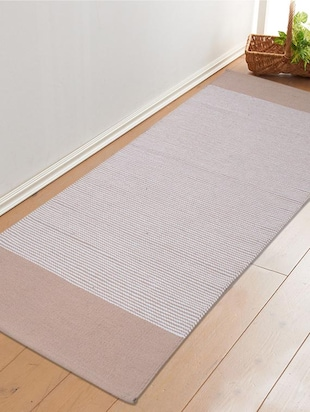 Saral Home Premium Quality Cotton Handloom Made Yoga/Exercise Rugs -70x170 cm