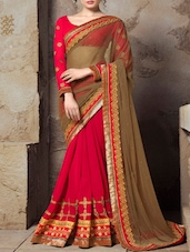 Embroidered Border Sheer Georgette Saree - Thankar
