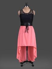 Round Neck Colour Block High-low Dress - London Off