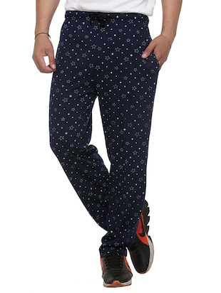 multi colored cotton  ankle length track pant - 11677985 - Standard Image - 2