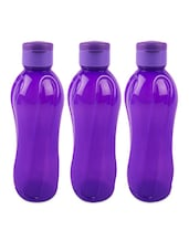 Flip Cap Water Bottle ( 1000 Ml - Set Of  3) - By