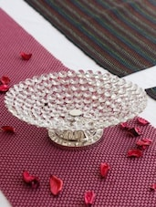 Silver  Crystal Fruit Platter -  online shopping for Decorative Trays & Bowls