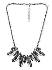 Cubic Zirconia And Stone Studded Necklace - By