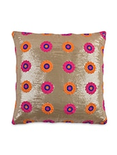 Gold  Sequined Cushion Cover - By