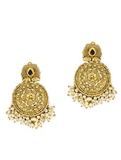 Gold Ethnic Earrings with Bead Clusters -  online shopping for Sets