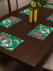 Floral Green   HD Digital Premium 12 By 18 Inches Table Mats (Set Of 6) - By
